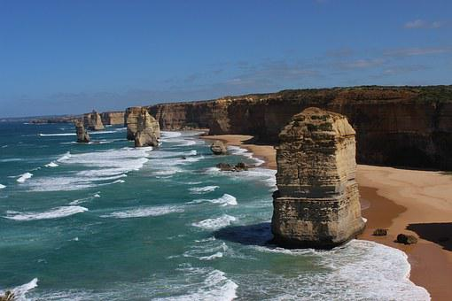 Apostles, Great Ocean Road, Australia, Ocean, Sea