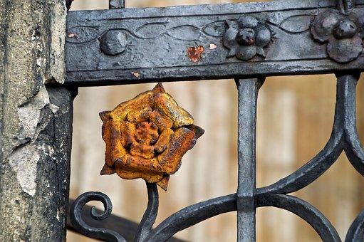 Architecture, Gothic, Rose, Iron, Artist Blacksmith