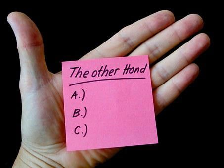 Hand, Note, List, Embassy, Message, Arguments
