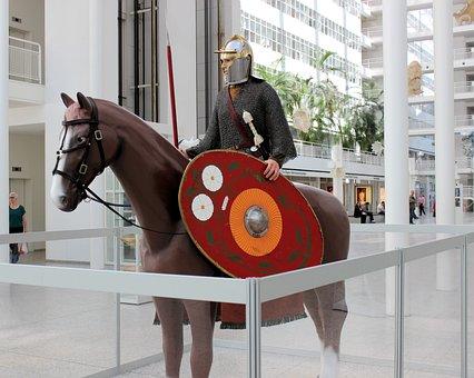 Sculpture, Horse, Knight, The Hague, Atrium, Town Hall
