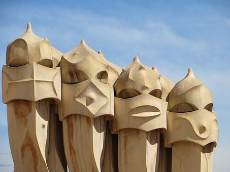 Barcelona, Gaudi, Spain, Catalonia, Building, Artistic