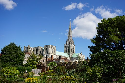 Chichester, Cathedral, Sussex, England, Spire