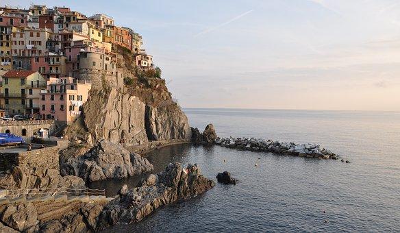 Cinque Terre, Italy, Liguria, Manarola, Mediterranean