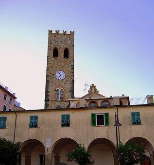 Torre, Watch, Medieval, Campanile, Cinque Terre