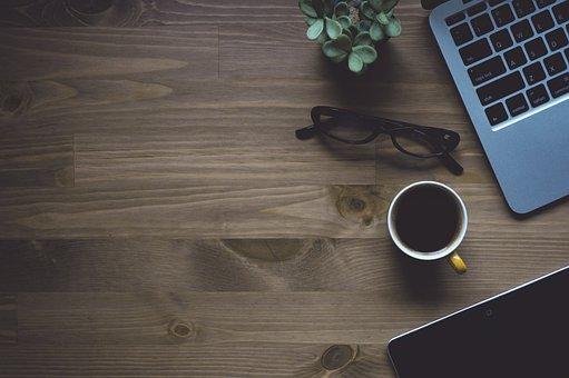 Notebook, Laptop, Macbook, Conceptual, Cup, Coffee