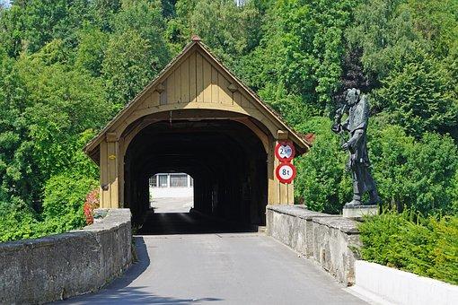 Wooden Bridge, Customs Bridge, Covered Wooden Bridge