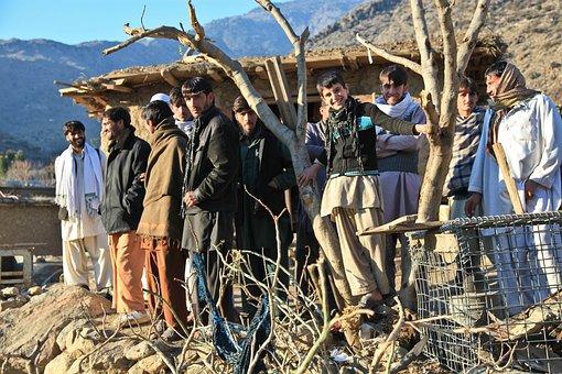 Afghani, People, Group, Men, Male, Eastern, Culture