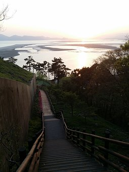 Da Cannon Emeishan Observatory, In The Evening, Stairs
