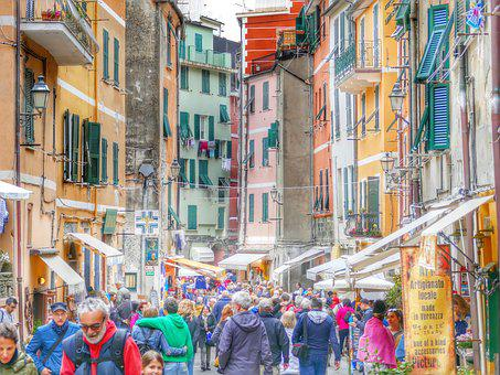 Alley, Colorful, Italy, Cinque Terre, Picturesque, Eng