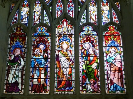 Stained Glass, Leaded Glass, England, Church, Cathedral