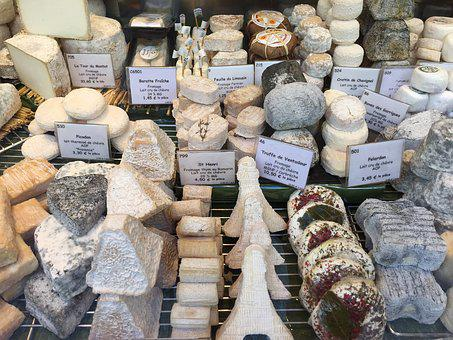 Paris, Cheese, Display, France, French, Food, Travel