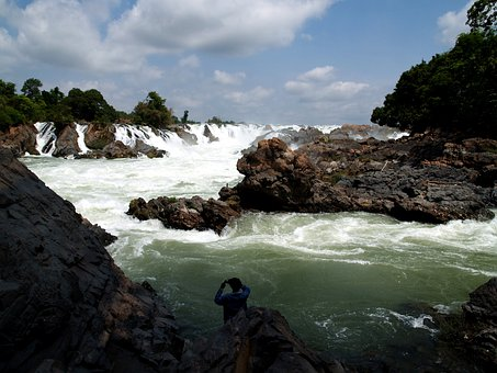 Four Thousand Islands, Laos, Waterfall, Jungle