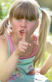 Child, Girl, Blond, Face, Quiet, Expression, Be Quiet