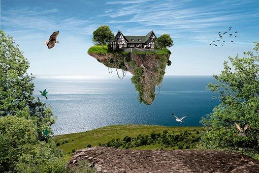Achievement, Travel, Works, Futuristic, Gravity, Island