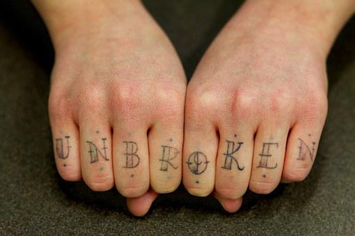 Hands, Finger, Tatoo, Embassy, Unbroken
