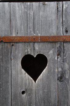 Heart, Wood, Klo Cottage, Heart In The Wood, Board