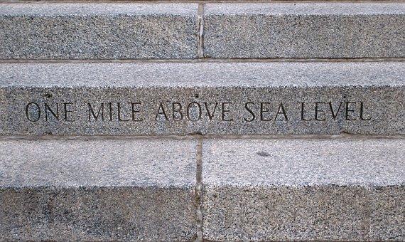 Steps Mile High, Denver, State, Capital, High Mile
