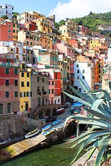 Italy, Liguria, Cinque Terre, Sea, Houses, Colors