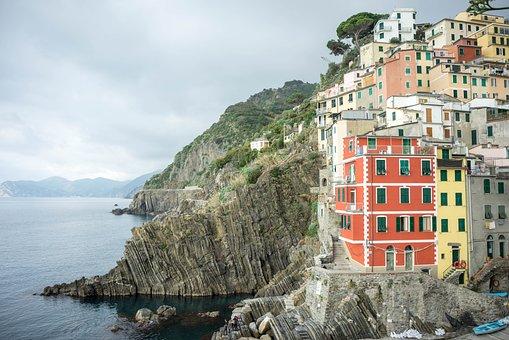Cinque Terre, Italy, Cliff, Rocks, Europe, Liguria