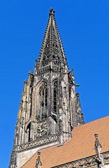 Münster, Principal Market, Lamberti Church, Spire