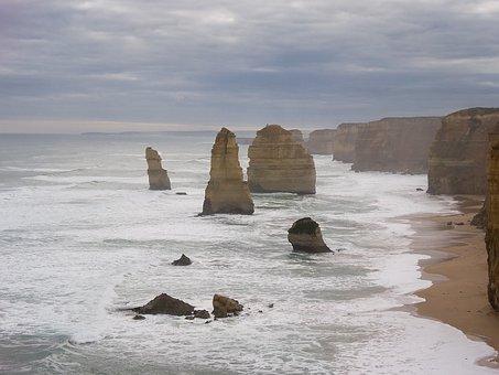 Twelve Apostles, Australia, Landscape, Ocean, Sea