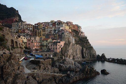 Manarola, Cinque Terre, Liguria, Spice, Boat, Colors