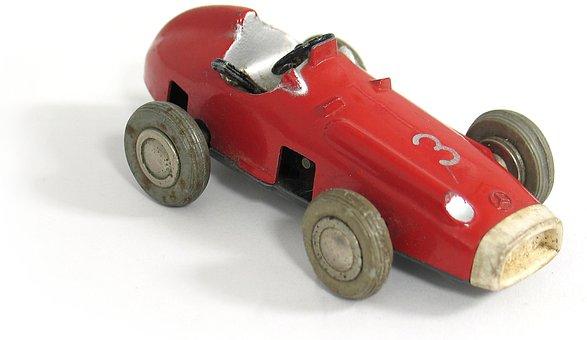 Vintage, Wood, Wooden Toys, Wooden Car, Mercedes