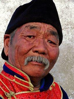 Mongolia, Travel, Nomadic, Gobi Desert, Steppe, Old Man
