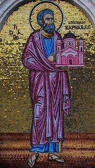 Apostle Varnavas, Saint, Cyprus Church, Founder, Mosaic