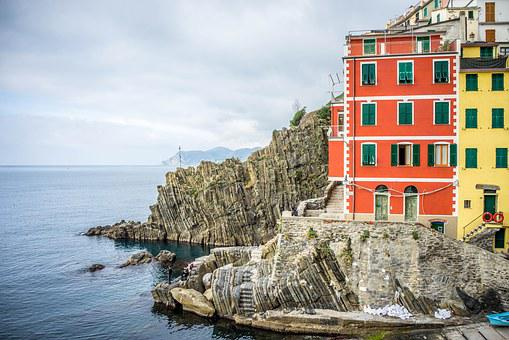 Italy, Cinque Terre, Mediterranean, Cliff, Mountain