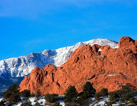 Kissing Camels, Pikes Peak, Mountains, Red Rocks, Blue