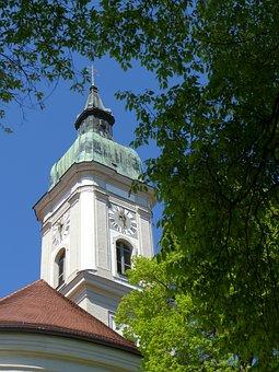 Church, Building, Neustift, Freising, Monastery Church