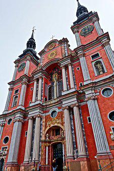Church, Spires, Entrance, Facade, Ornate, Cathedral