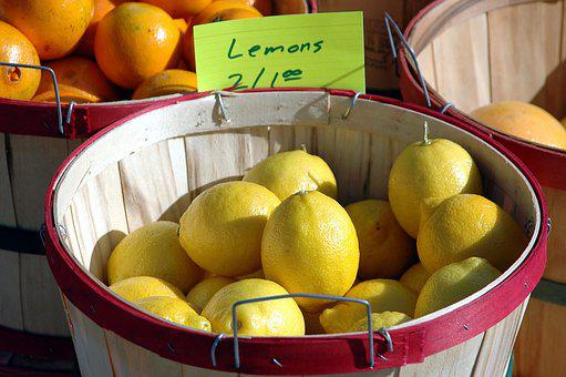 Lemons, Yellow, For Sale, Fruit, Buy, Outdoor Market