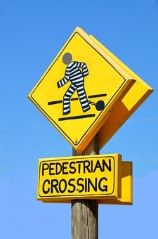 Pedestrian Crossing Sign, Outdoors, Symbol, Warning