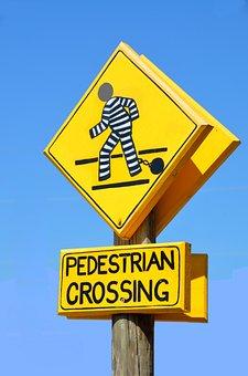 Pedestrian Crossing Sign, Outdoors, Symbol, Warning