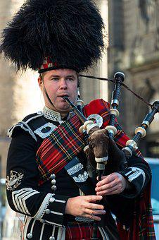 Bagpipe, Scotland, Edinburgh, Playing The Bagpipes
