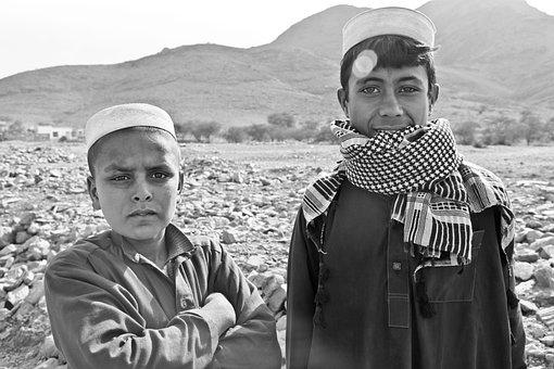 Boys, Afghani, Portrait, Person, Children, Happy