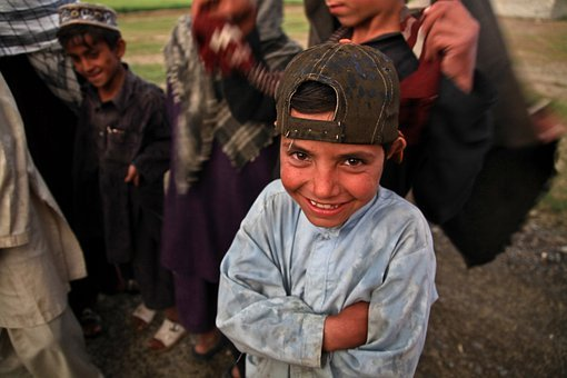 Afghani, Child, Laughing, Poor, Dirty, Poverty, Happy