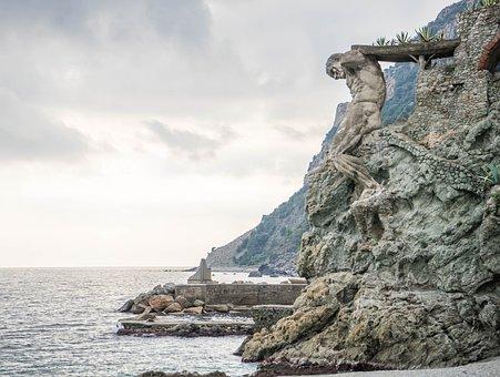 Cinque Terre, Italy, Rock, Carving, Cliff