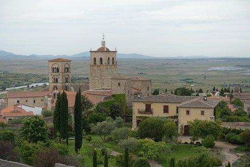 Village, Roofs, Mediterranean, Church, Spire