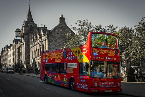 Edinburgh, Royal Mile, Bus, Sightseeing