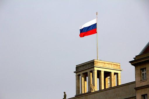 Russia, Embassy, Berlin, Flag, Building, Architecture