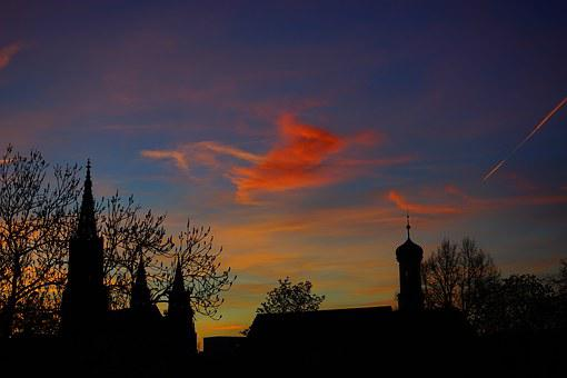 Sunset, Evening Hour, Sky, Pastellfarben, Colorful