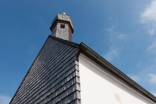 Chapel, Sun, Clouds, Wood Shingles, Onion Dome, Steeple
