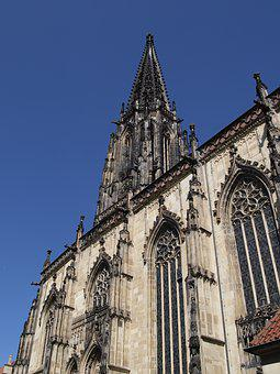 Church, Dom, Window, Gothic, Stone, Religion, Faith