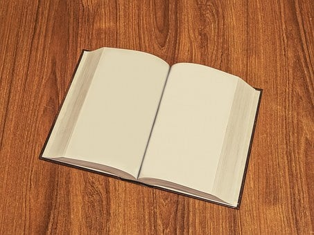 Blank, Hardcover, Book, Wooden, Table, Coffee Table