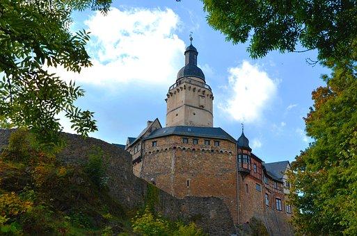 Castle Falkenstein, Castle, Tower, Wall, Sky, Resin