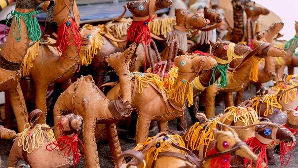 Camel, Stuffed Animal, Toys, Leather, Sewn, Souvenir