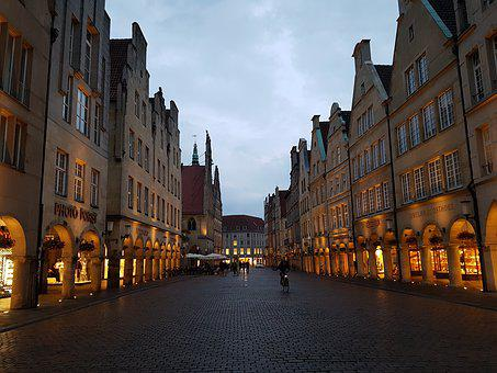 Münster, Principal Market, Downtown, Westfalen